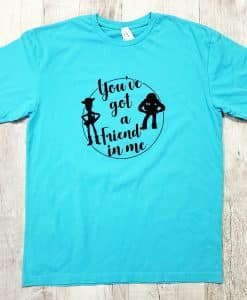 Woody and Buzz Lightyear You've Got A Friend In Me Matching Toy Story Shirts
