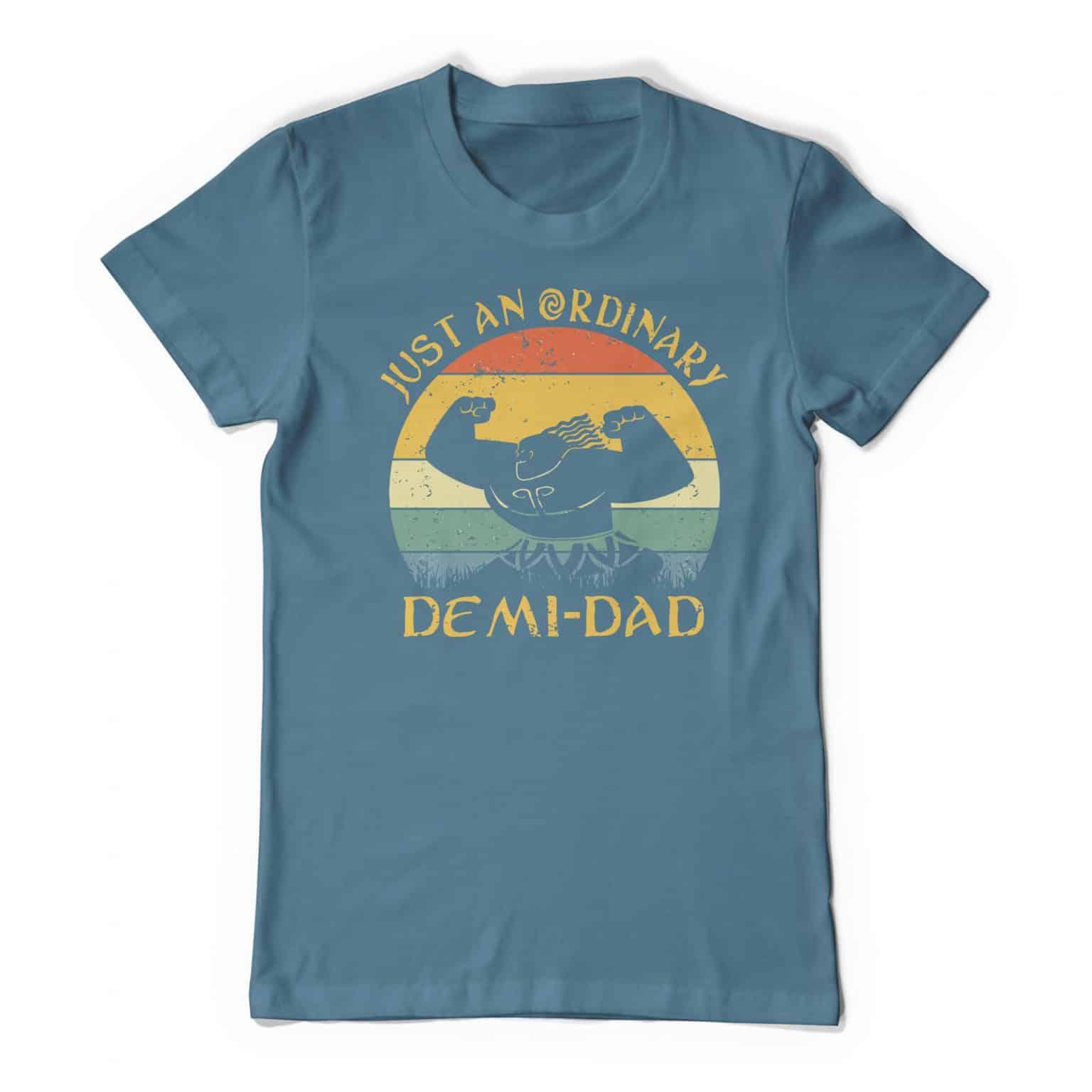 Maui Demigod Dad Tee Shirt Indigo