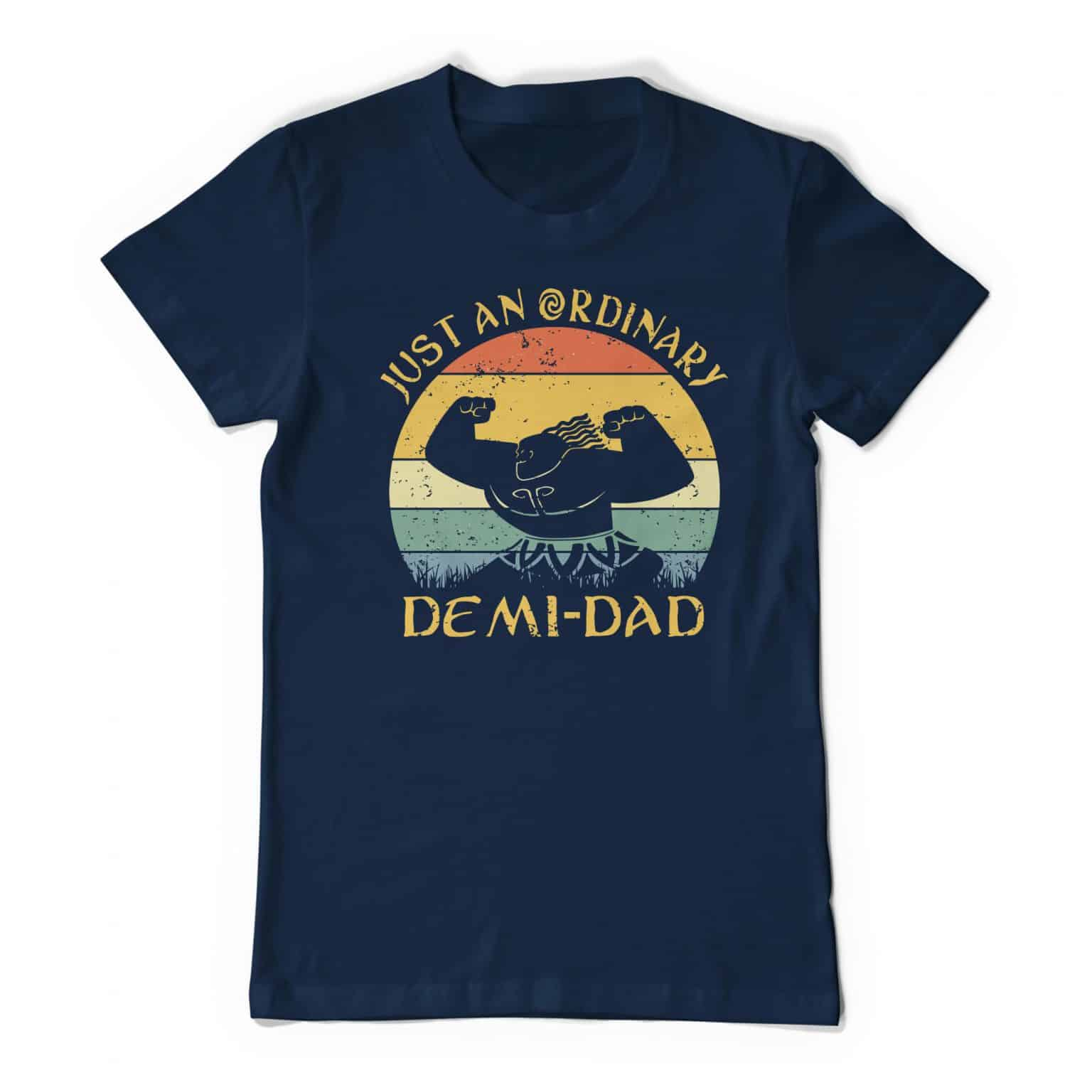 Moana Maui Dad Just An Ordinary Demi Dad Navy Tee Shirt