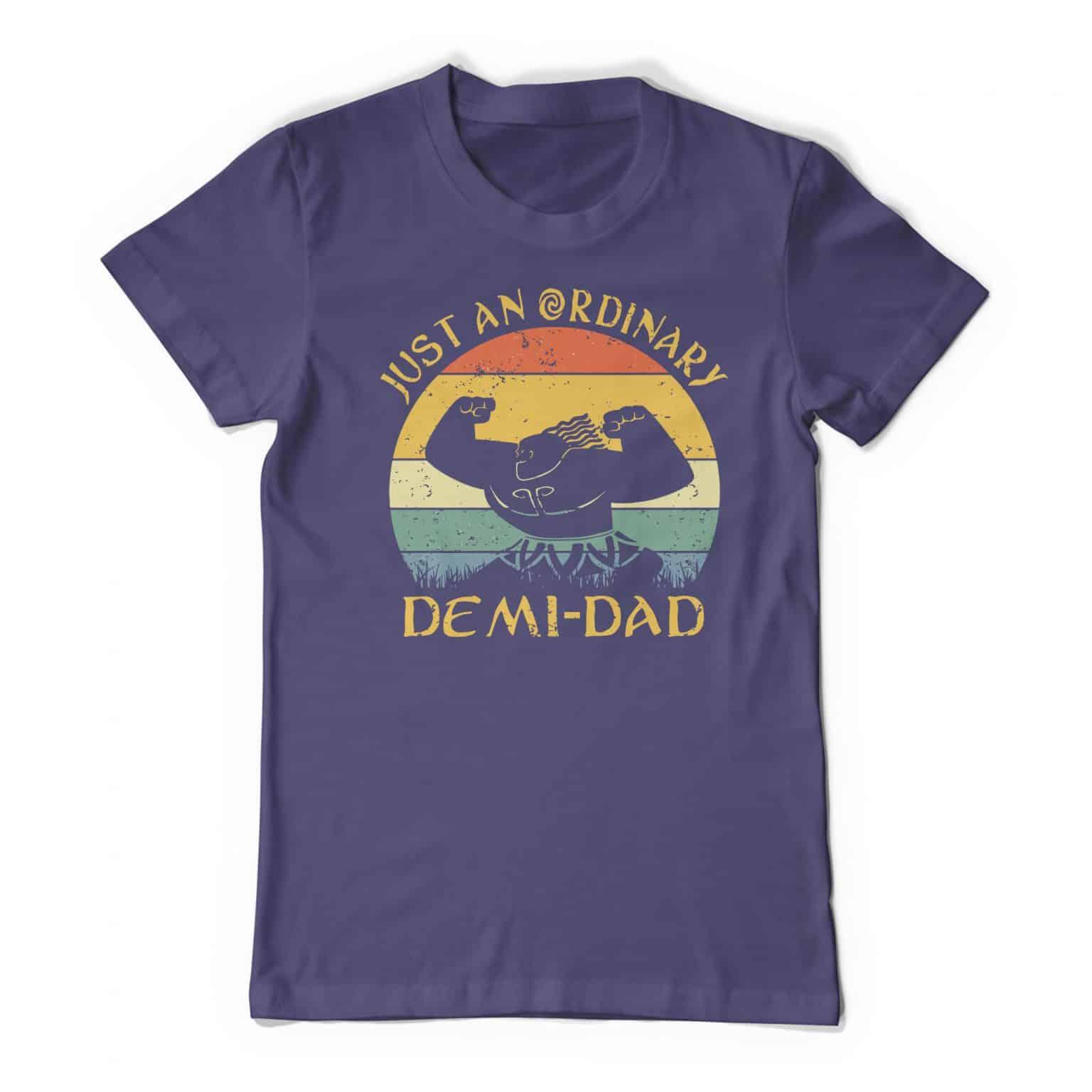Moana Inspired Maui Just An Ordinary Demi Dad Purple Tee Shirt
